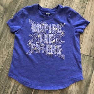 """Old Navy """"Inspire The Future"""" Girl's graphic tee"""